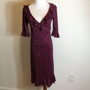 Diana Von Furstenburg silk printed pink dress